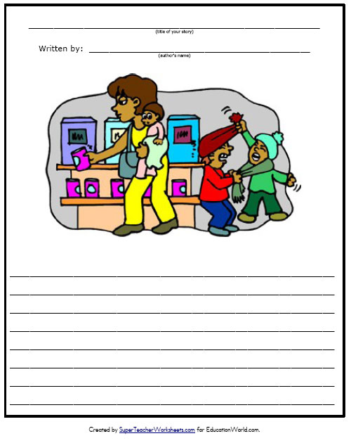 Printable Writing Worksheet with Picture Box for Kids - Scroll Down to ...