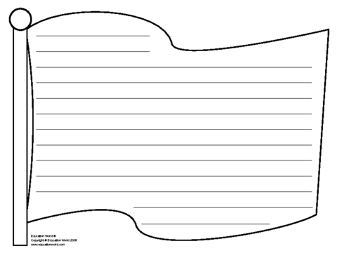 Best Images of Flag Writing Paper Printable