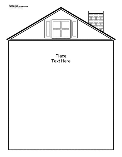 Education World: House Shapebook (Unlined) Template (DOC)