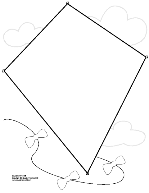 Make A Paper Kite Template for Pinterest