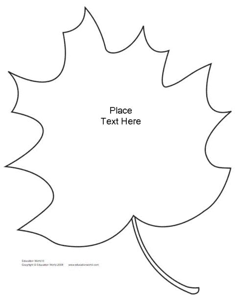 Leaf Shapebook (Unlined) Template (PDF) | Education World
