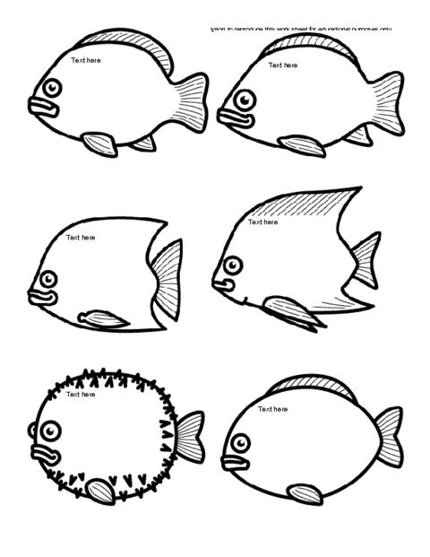 Fish Icebreaker Template | Education World