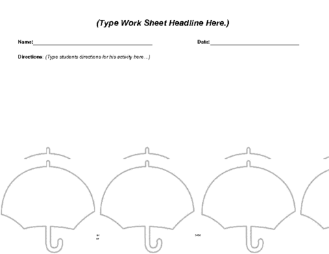 Education World Umbrella Worksheet Template – Umbrella Template