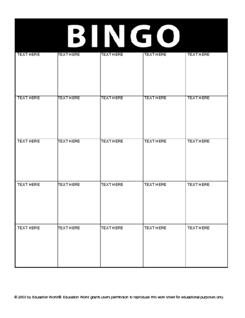 Bingo card icebreaker template education world click here bingo downloadc to download the document solutioingenieria Images