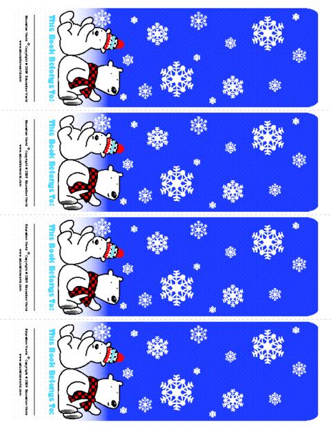Education World December Bookmark Template Color