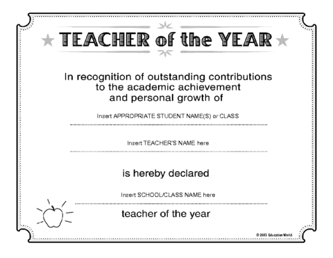 Education world teacher of the year certificate template click here certificatebestteacher downloadc to download the document yadclub Gallery
