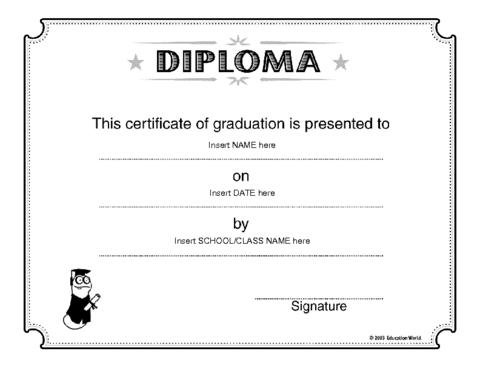 Education World: Diploma Template