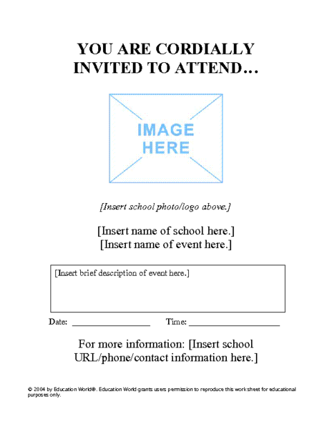 Special event flyer template education world for Parent flyer templates