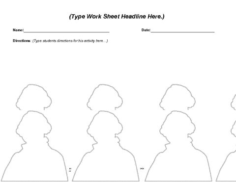 George Washington Worksheet Template Education World