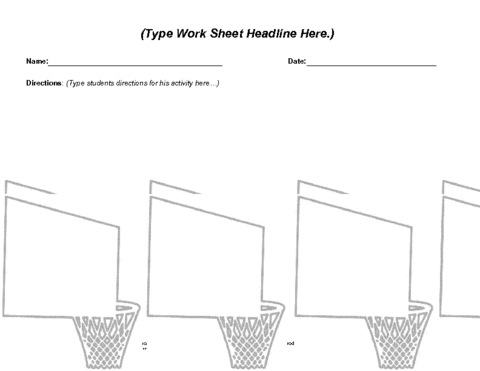March Basketball Worksheet Template Education World