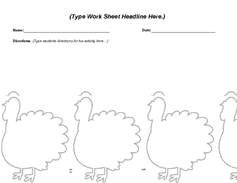 Thanksgiving Worksheet Template | Education World