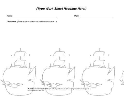 math worksheet : education world columbus day worksheet template : Columbus Day Math Worksheets
