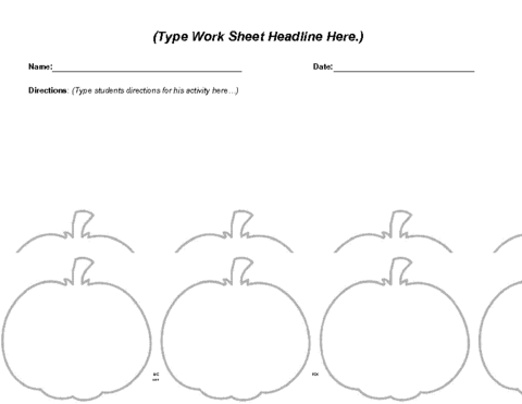 Education World: Halloween Worksheet Template