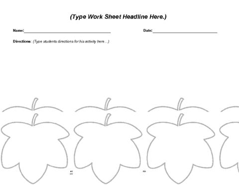 Number Names Worksheets autumn worksheet : Education World: Autumn Worksheet Template