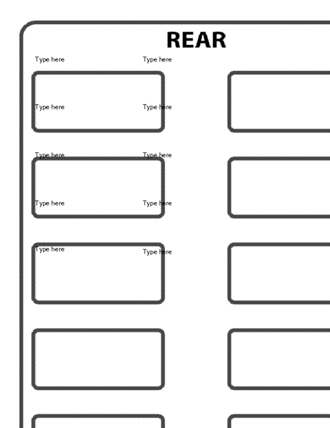 School bus seating chart template education world
