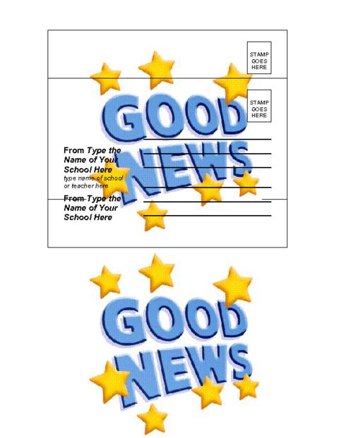good news postcard template education world