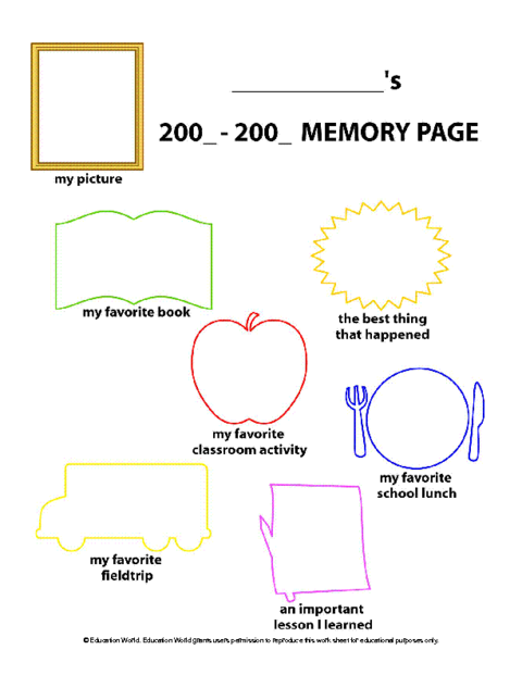 Free! End of school year memory book for grades k-5 | end of.