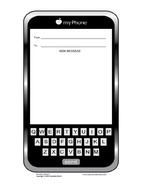Education World: Mobile Phone Template