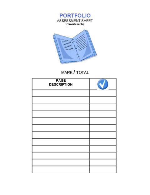 Portfolio assessment template pdf education world for Educational portfolio template
