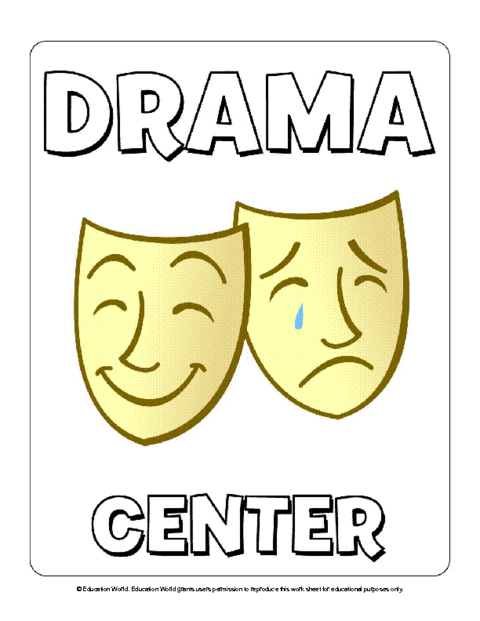Education World: Drama and Computer Signs Template