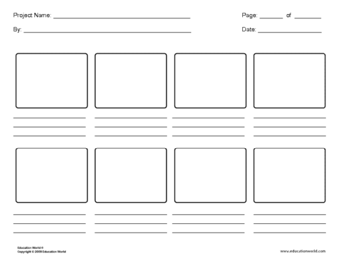 8 panel storyboard template education world