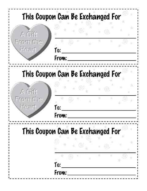 Valentines Coupon Version 1 Template  Education World